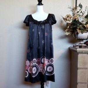 Apostrophe silky dress, size XL